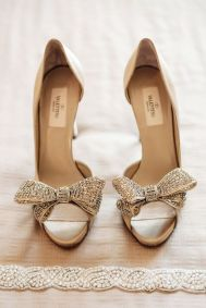Valentino gold bow