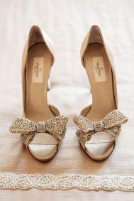 Valentino gold bow