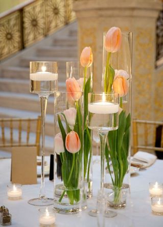 Tulips and candles